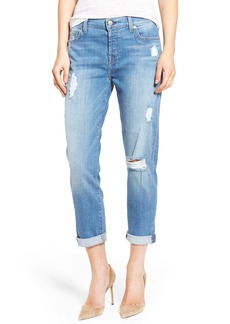 7 For All Mankind® 'Josefina' Mid Rise Boyfriend Jeans (Adelaide Bright Blue 2)