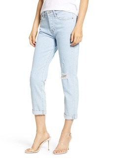 7 For All Mankind® Josefina Ripped Ankle Straight Leg Jeans (Snowbird)