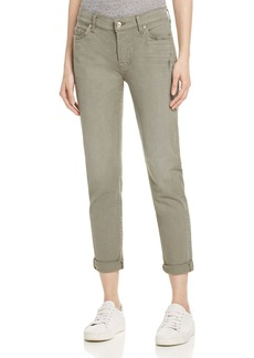 7 For All Mankind Josefina Skinny Boyfriend Jeans in Fatigue