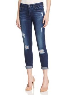 7 For All Mankind Josefina Skinny Boyfriend Jeans in Havsu Lake Blue