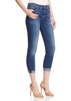 7 For All Mankind Josefina Skinny Boyfriend Jeans in Precott Medium Henintage