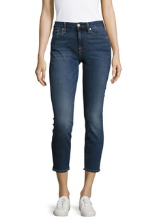 7 For All Mankind Karah Cropped Five-Pocket Jeans