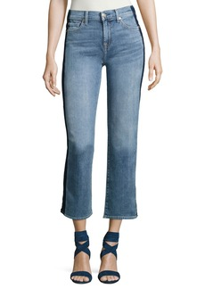 7 For All Mankind Kiki W/ Shadow Side Seam Wide-Leg Jeans
