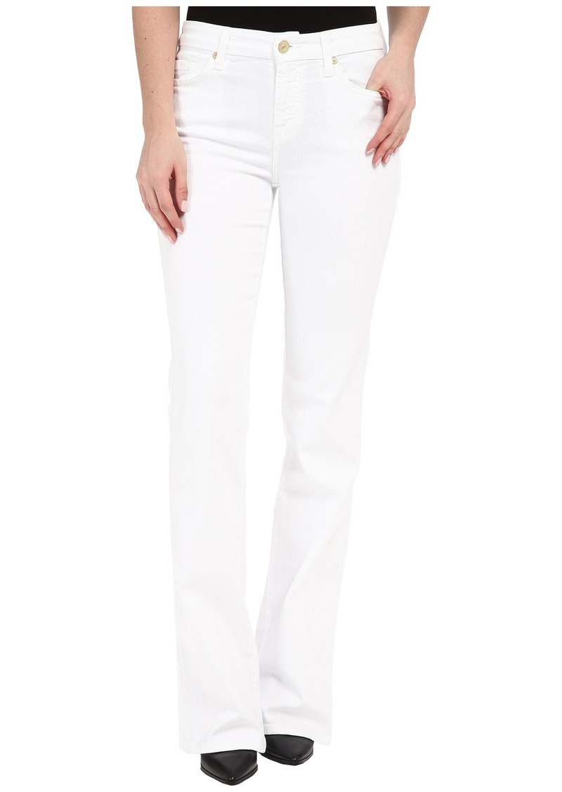 7 For All Mankind Kimmie Bootcut in Clean White