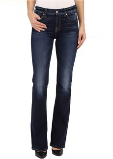 7 For All Mankind Kimmie Bootcut with Distress in Mykonos Dark Indigo