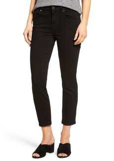 7 For All Mankind® Kimmie Crop Jeans (Black)