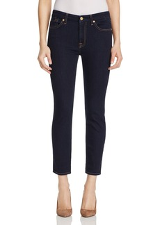7 For All Mankind Kimmie Crop Jeans in Dark Rinse