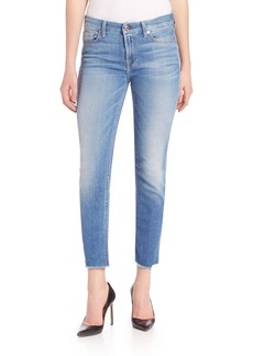 7 For All Mankind Kimmie Crop Raw Hem Jeans