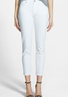 7 For All Mankind® 'Kimmie' Crop Skinny Jeans (Clean White)