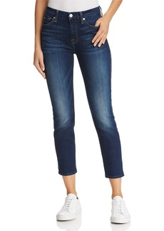 7 For All Mankind Kimmie Crop Skinny Jeans in Phoenix River - 100% Exclusive