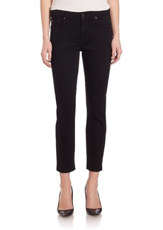 7 For All Mankind Kimmie Cropped Slim Illusion Skinny Jeans