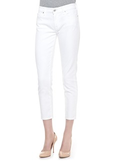 7 For All Mankind Kimmie Straight-Leg Cropped Jeans