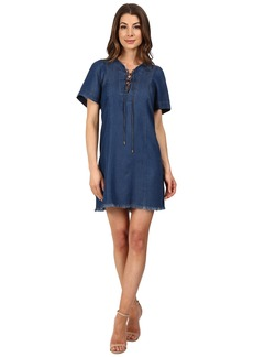7 For All Mankind Lace-Up Denim Dress