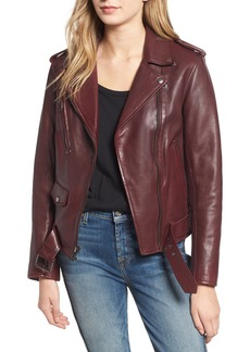 7 For All Mankind® Leather Biker Jacket