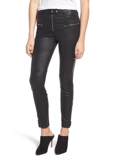 7 For All Mankind® Leather Biker Pants