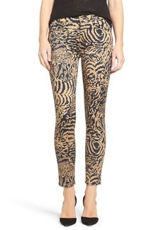 7 For All Mankind® Leopard Print Ankle Skinny Jeans (Royal Leopard)