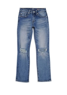 7 For All Mankind Little Boy's & Boy's Slimmy Blooms Distressed Jeans