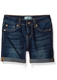 "7 For All Mankind Little Girls' 4"" Rool-Cuff Short"