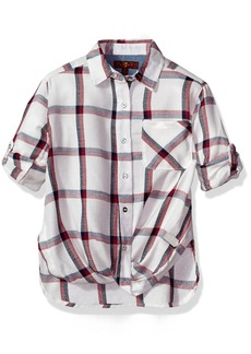 7 For All Mankind Little Girls' Long Sleeve Blouse (More Styles Available) G323-Whiteplaid
