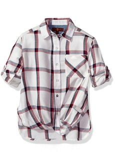 7 For All Mankind Little Girls' Long Sleeve Blouse (More Styles Available) G3253-Whiteplaid