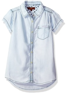 7 For All Mankind Little Girls' Short Sleeve Button Front Shirt