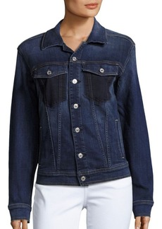 7 For All Mankind Long-Sleeve Denim Jacket