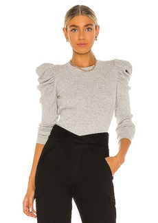 7 For All Mankind Long Sleeve Puff Shoulder Crewneck