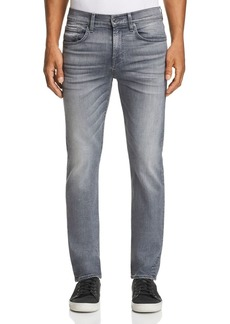 7 For All Mankind Luxe Performance Straight Slim Fit in Griffin Grey
