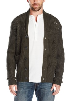 7 For All Mankind Men's Chunky Shawl Collar Cardigan Sweater