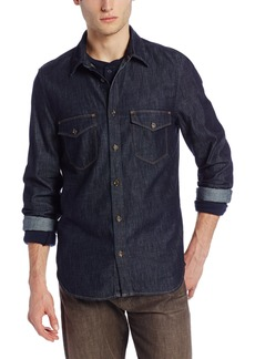 7 For All Mankind Men's Double Flap Pocket Shirt