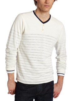 7 For All Mankind Men's Double Layer Marine Henley Shirt