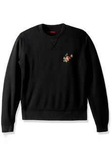 7 For All Mankind Men's Long Sleeve La Embroidered Floral Sweatshirt