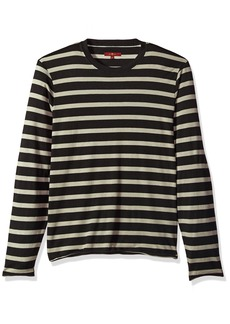 7 For All Mankind Men's Long Sleeve Striped Crew Neck Tee Shirt
