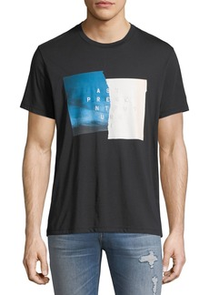 7 For All Mankind Men's Past Present Future Graphic T-Shirt