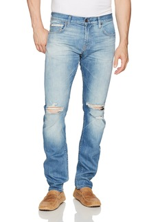 7 For All Mankind Men's Paxtyn Skinny Tapered Jean in Outlaw Stretch Selvedge Destoyed