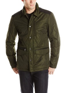 7 For All Mankind Men's Quilted Jacket with Leather Detail