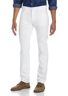 7 For All Mankind Men's Slimmy Slim Straight-Leg Jean Clean White