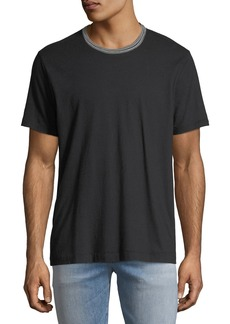 7 For All Mankind Men's Striped-Trim Ringer T-Shirt