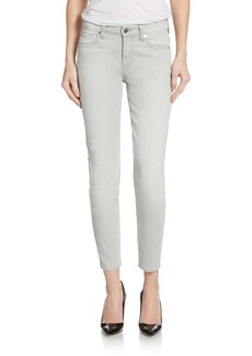7 For All Mankind Mid-Rise Crop Skinny Jeans