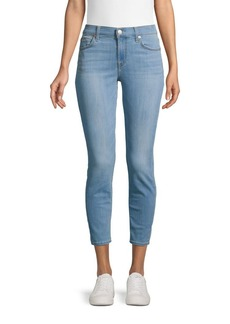 7 For All Mankind Mid-Rise Cropped Skinny Jeans