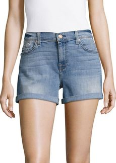 7 For All Mankind Mid-Waist Rolled-Cuff Shorts