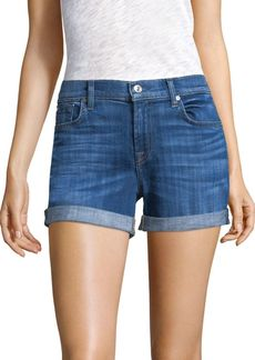 7 For All Mankind Midroll Denim Shorts