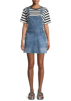 7 For All Mankind Mini Skirt Denim Overall Dress
