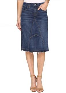 Mini Skirt w/ Released Hem in Eden Port