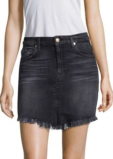 7 For All Mankind Mini Skirt With Scalloped Hem