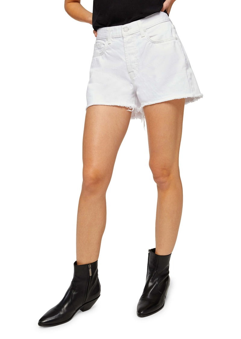 7 For All Mankind® Monroe High Waist Nonstretch Denim Cutoff Shorts