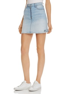 7 For All Mankind Moto Denim Mini Skirt in Vintage Dawn