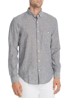 7 For All Mankind New Icon Striped Regular Fit Button-Down Shirt