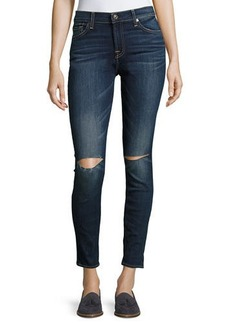 7 For All Mankind Nickel Skinny Jeans