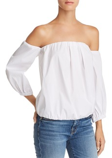 7 For All Mankind Off-the-Shoulder Blouson Top